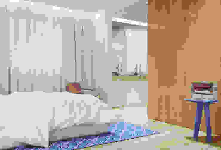 Casa na Póvoa de Varzim: Quartos  por ASVS Arquitectos Associados,Moderno