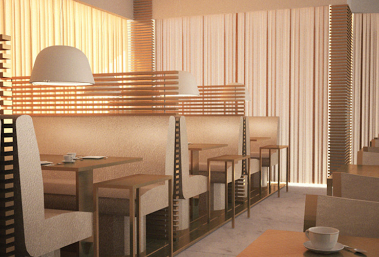 Interiores Aparthotel Salmiya, Doha, Qatar Hotéis modernos por ASVS Arquitectos Associados Moderno