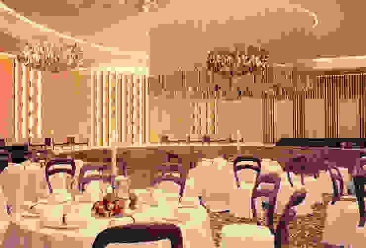 Interiores do 'Mezzanine Floor', African Union Grand Hotel, Adis Abeba, Etiópia Espaços de restauração coloniais por ASVS Arquitectos Associados Colonial
