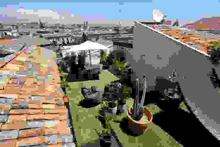 Bureau69 d'Architettura Modern balcony, veranda & terrace