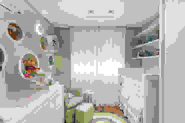 Habitaciones infantiles de estilo  por Pura!Arquitetura, Minimalista Textil Ámbar/Dorado