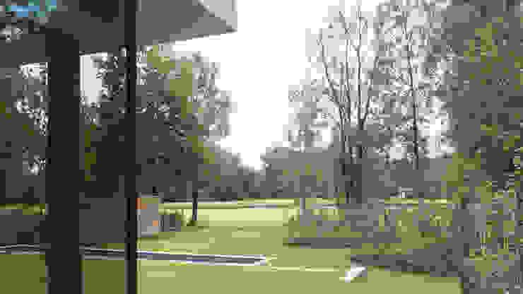 house JV-K Niko Wauters architecten bvba Jardines de estilo minimalista