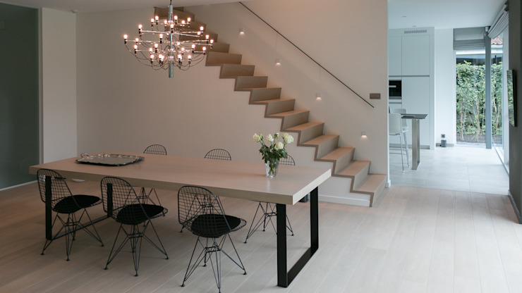 house JV-K Niko Wauters architecten bvba Minimalist dining room