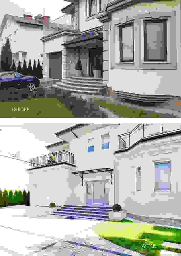 Projekt przebuowy domu 650m kw, od Katarzyna Kraszewska Architektura Wnętrz