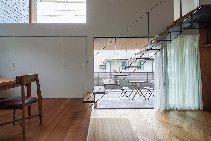 nobuyoshi hayashi Eclectic style corridor, hallway & stairs