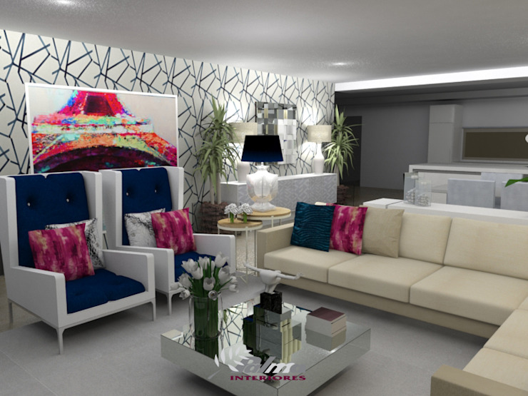 Living room by Palma Interiores