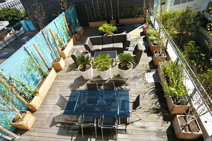London Roof Terrace Moderner Garten von Arthur Road Landscapes Modern