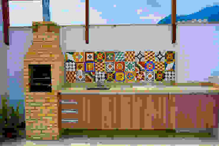Millena Miranda Arquitetura Cocinas de estilo moderno Azulejos
