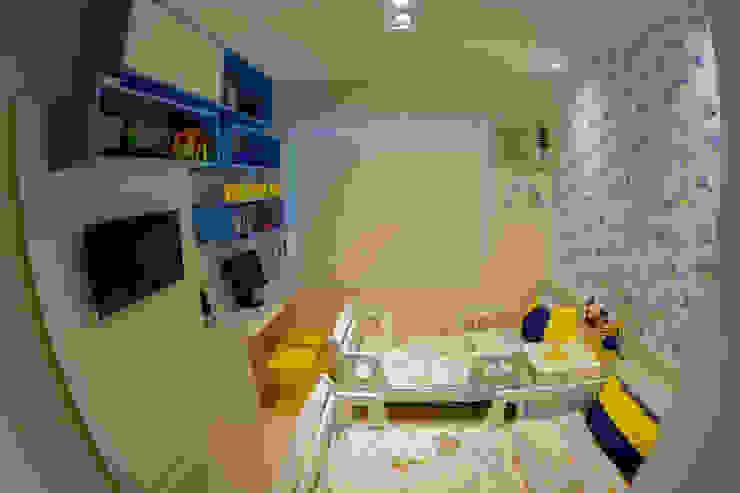 Millena Miranda Arquitetura Dormitorios infantiles de estilo moderno Tablero DM Azul