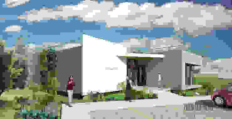 Vista Frontal. Oficina Experience Center. 2015 Casas de estilo minimalista de Eisen Arquitecto Minimalista