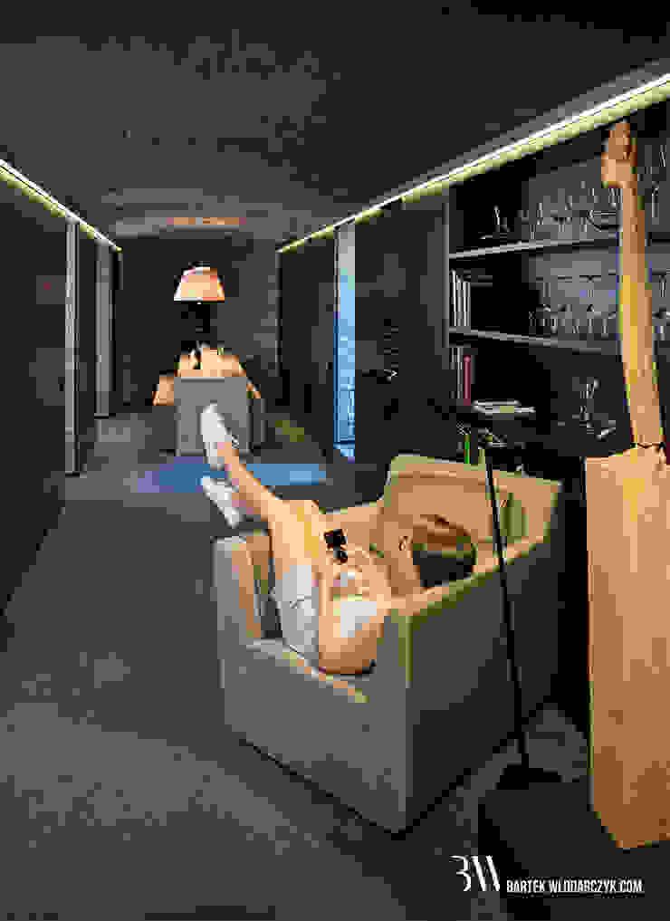 Pomieszczenie do degustacji win Nowoczesna piwnica win od Bartek Włodarczyk Architekt Nowoczesny