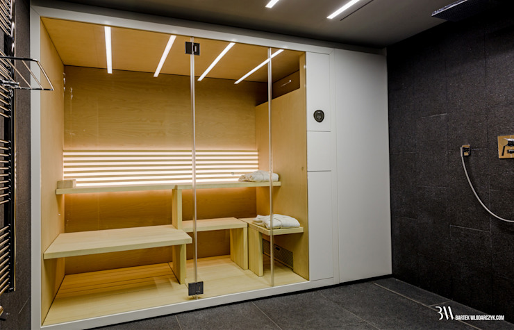 Sauna Nowoczesne spa od Bartek Włodarczyk Architekt Nowoczesny
