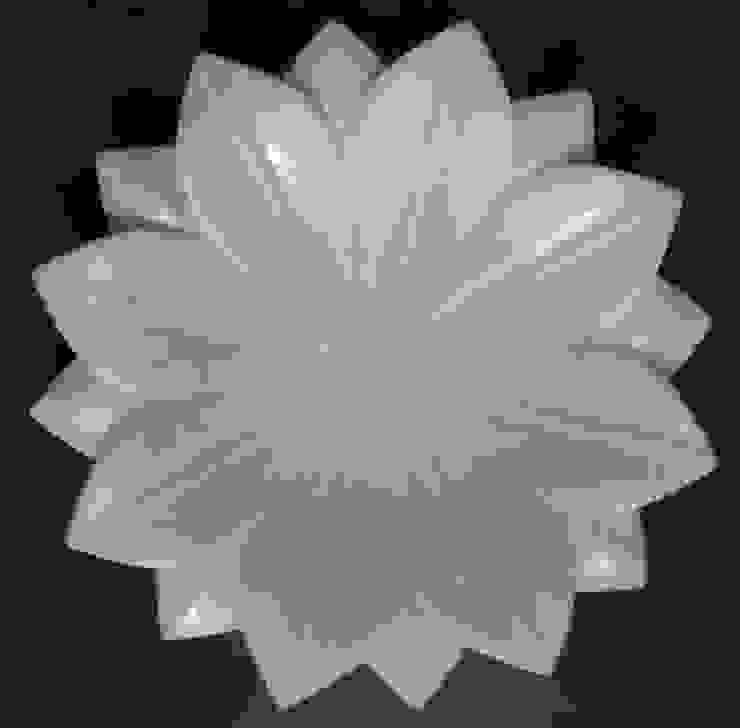 "12"" white marble lotus leaf fruit bowl: modern  by india stone,Modern"
