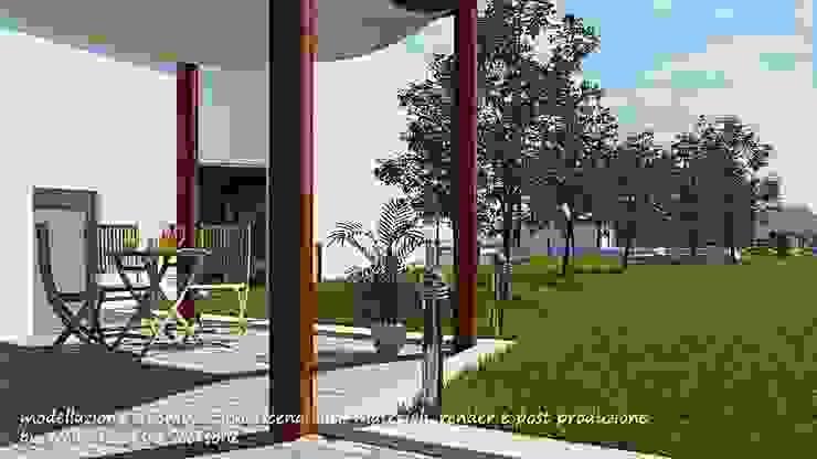 Project villa monofamiliare Giardino minimalista di Studio di Architettura Minimalista