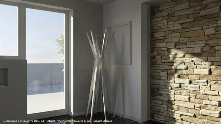 Project villa monofamiliare Soggiorno minimalista di Studio di Architettura Minimalista