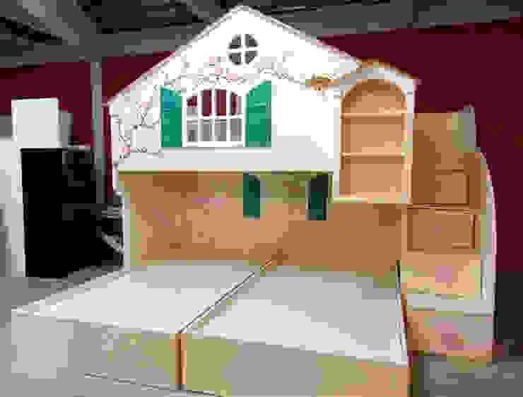 Hermosa casita litera para niñas de camas y literas infantiles kids world Clásico Derivados de madera Transparente