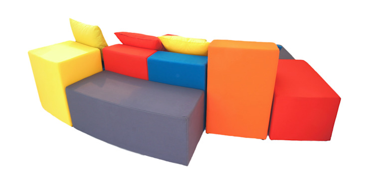 Sofá Divertido para Cuarto Infantil. SOFÁ RAINBOW de MARECO DESIGN S.A.S Moderno