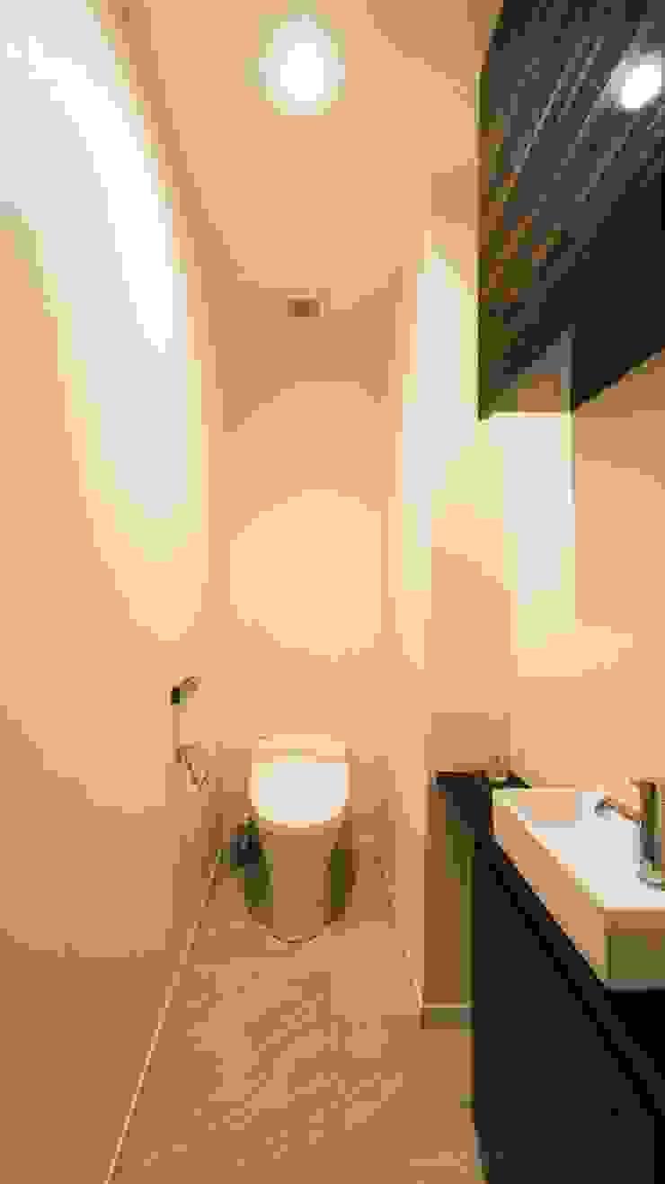トイレ モダンスタイルの お風呂 の QUALIA モダン