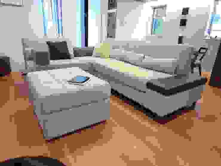 Geogia Couch Set: (株)工房スタンリーズが手掛けた現代のです。,モダン 合成繊維 ブラウン