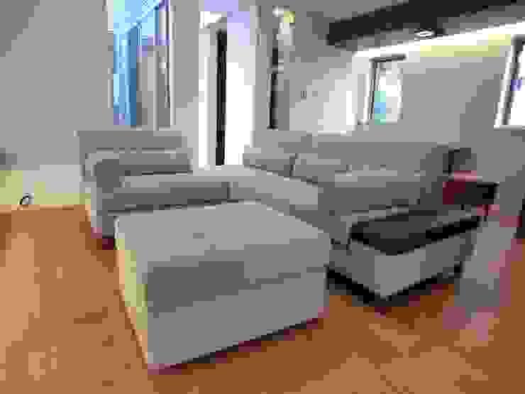 Georgia Couch Set +Ottoman: (株)工房スタンリーズが手掛けた現代のです。,モダン 合成繊維 ブラウン