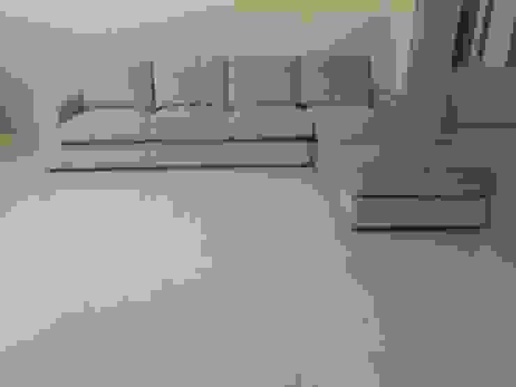 Nancy 4 seater+Couch+Ottoman: (株)工房スタンリーズが手掛けた現代のです。,モダン 合成繊維 ブラウン