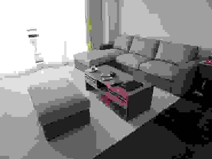 Nancy Couch Set+Ottoman: (株)工房スタンリーズが手掛けた現代のです。,モダン 天然繊維 ベージュ