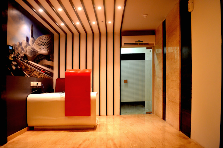 Berger Office Reception Modern study/office by ARETE studio Modern