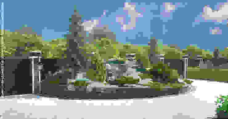 Въездная зона для маленького участка Сад в скандинавском стиле от Мастерская ландшафта Дмитрия Бородавкина Скандинавский