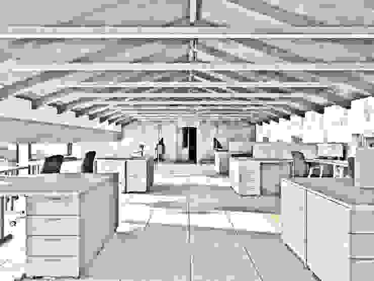 """Проект интерьера для лаборатории завода """"СМИТ"""" Офисные помещения в стиле минимализм от Mebius Group Минимализм"""