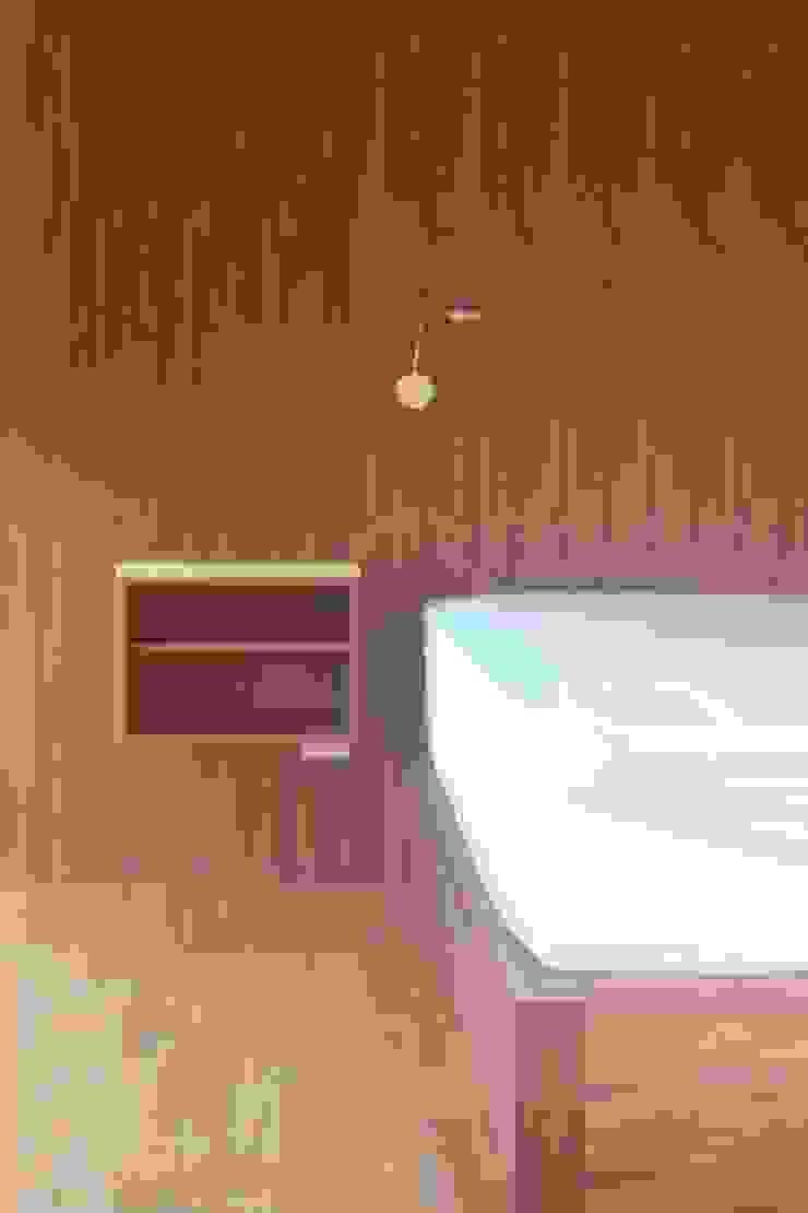 cabecera, burros y cama de tzalam Dormitorios minimalistas de L atelier Minimalista
