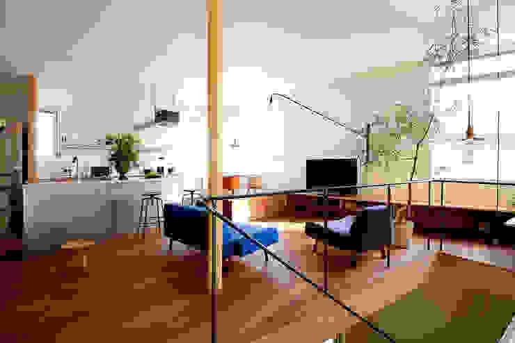HOUSE S モダンデザインの リビング の アーキライン一級建築士事務所 モダン
