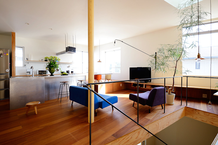 Modern living room by アーキライン一級建築士事務所 Modern