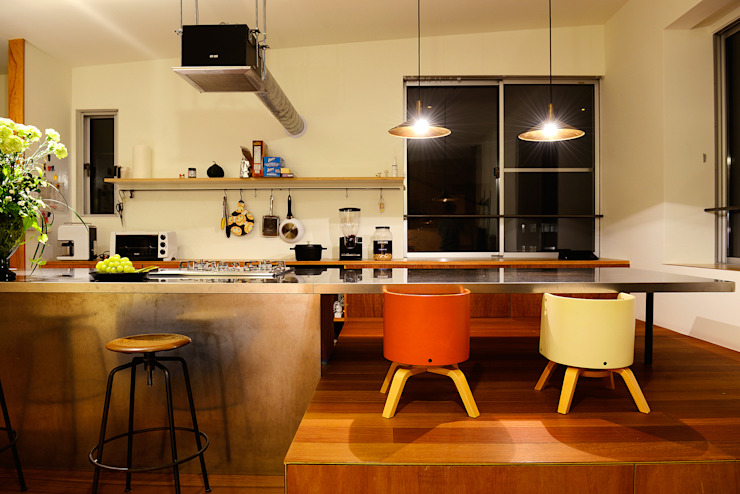 HOUSE S アーキライン一級建築士事務所 モダンな キッチン
