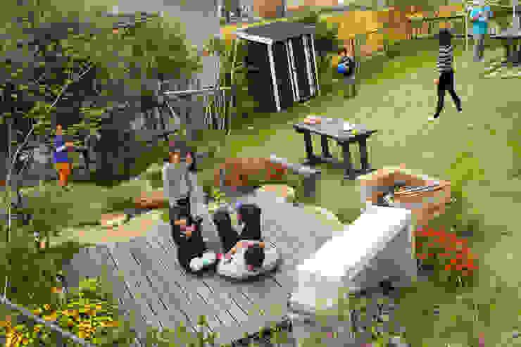 ハウスbetweenデッキの庭 - 写真08: 平山庭店が手掛けた折衷的なです。,オリジナル