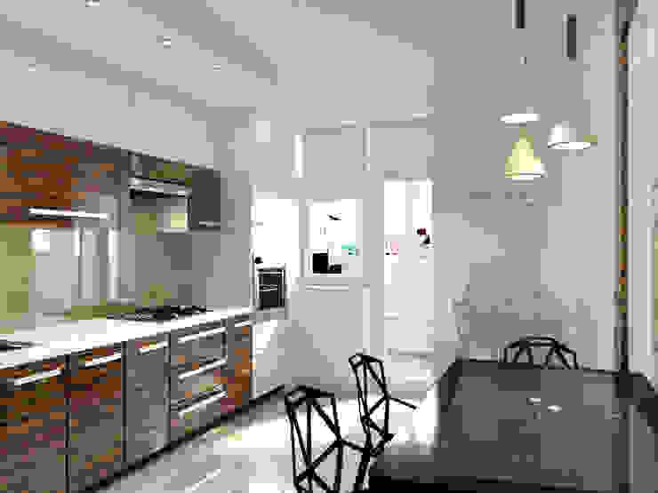 Для двоих Кухни в эклектичном стиле от Дизайн студия Александра Скирды ВЕРСАЛЬПРОЕКТ Эклектичный