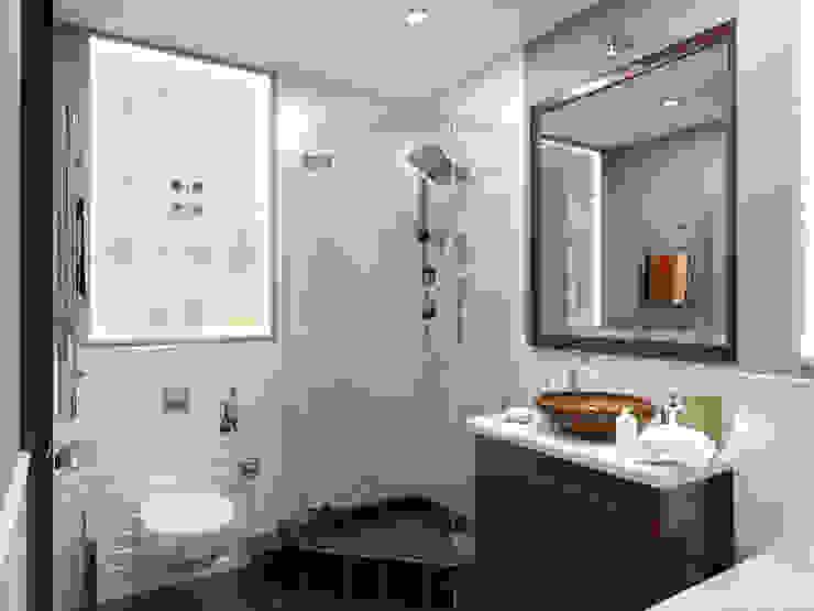 Для двоих Ванная комната в эклектичном стиле от Дизайн студия Александра Скирды ВЕРСАЛЬПРОЕКТ Эклектичный