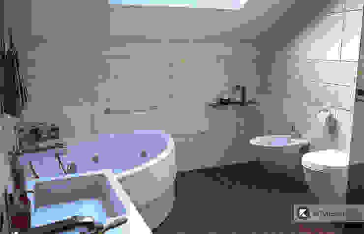 Загородный дом в Приозерске: Ванные комнаты в . Автор – Kitole,