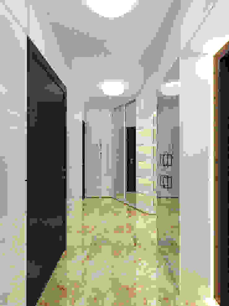 Для двоих Коридор, прихожая и лестница в эклектичном стиле от Дизайн студия Александра Скирды ВЕРСАЛЬПРОЕКТ Эклектичный