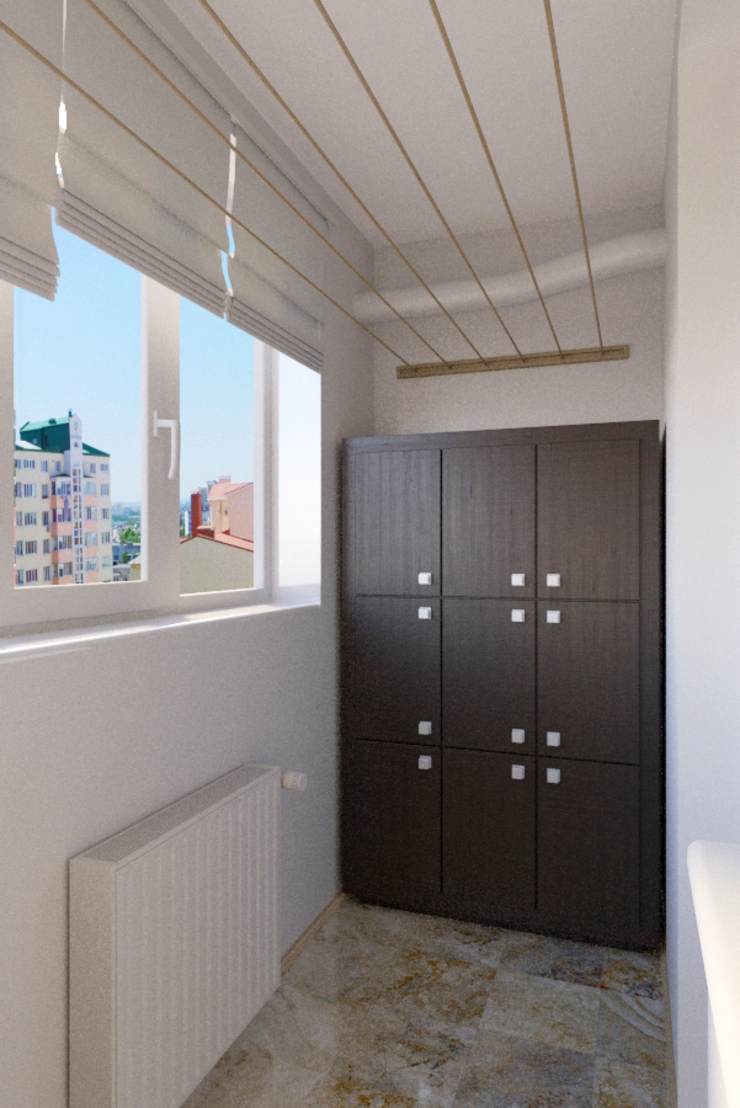 Для двоих Балконы и веранды в эклектичном стиле от Дизайн студия Александра Скирды ВЕРСАЛЬПРОЕКТ Эклектичный