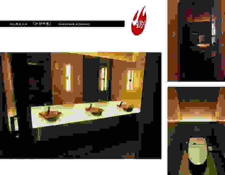 炭火焼肉店「かがやき」 アジア風レストラン の ミズタニ デザイン スタジオ 和風