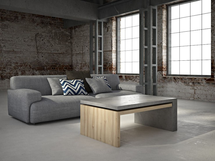 Concrete furnitures Bettoni by DecoMania.pl Minimalist