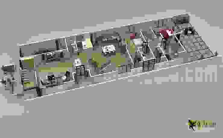 Progettazione 3d piano piano per la casa moderna Yantram Design Studio di architettura ArteAltri oggetti d'arte