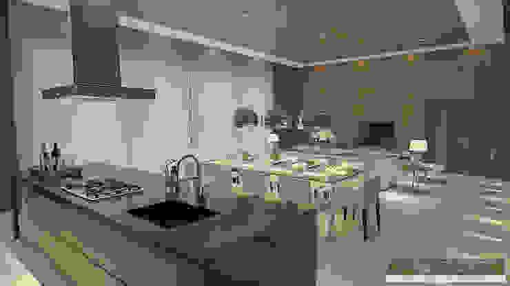 Horta e Vello Arquitetura e Interiores Ruang Makan Modern Kayu Wood effect