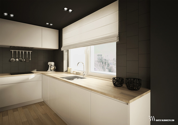 Cozinhas modernas por Bartek Włodarczyk Architekt Moderno