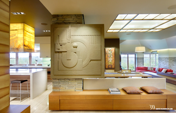 Ingresso, Corridoio & Scale in stile moderno di Bartek Włodarczyk Architekt Moderno