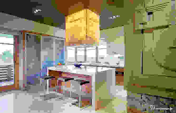 Cucina moderna di Bartek Włodarczyk Architekt Moderno