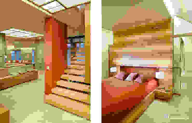 Camera da letto moderna di Bartek Włodarczyk Architekt Moderno