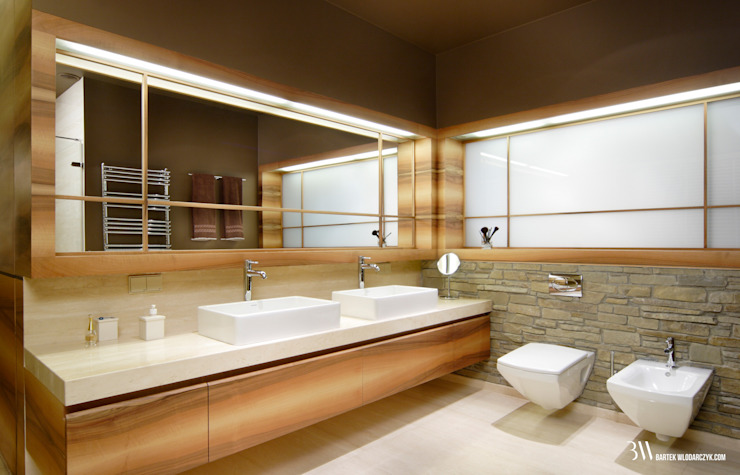 Modern style bathrooms by Bartek Włodarczyk Architekt Modern