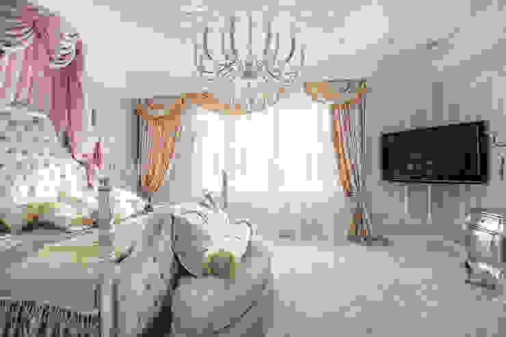 Фото классической спальни по проекту от Батенькофф в ЖК Москва : Спальни в . Автор – Дизайн студия 'Дизайнер интерьера № 1',