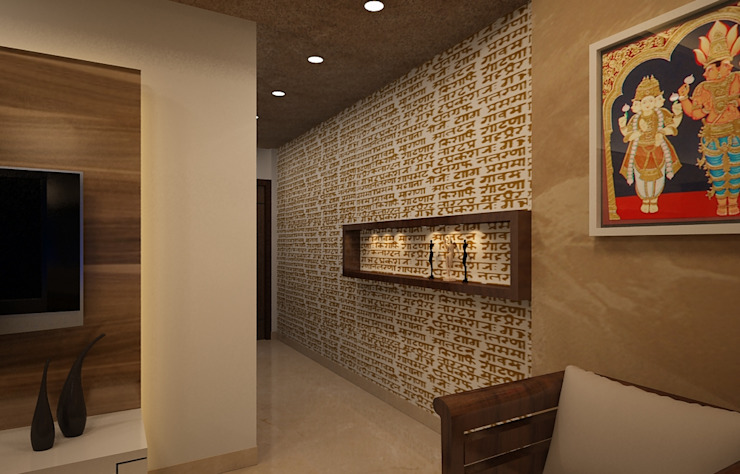 Residential Interiors Prism Architects & Interior Designers Asian style corridor, hallway & stairs